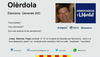 Sánchez convida a un cafè als veïns que desitgin plantejar-li dubtes sobre les eleccions de diumenge