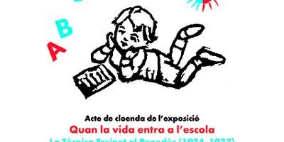 """Sant Pere Molanta acollirà diumenge 25 d'abril la cloenda de l'exposició """"Quan la vida entra a l'escola"""""""