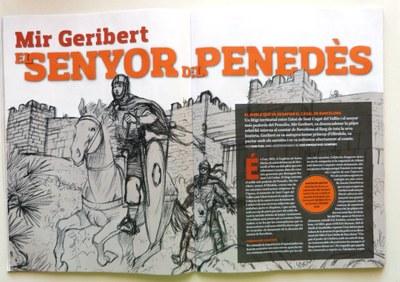 Sàpiens dedica a Mir Geribert un reportatge que inclou il·lustracions del còmic d'Oriol Garcia Quera