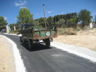 El camí evita el pas de tractors per dins de Sant Miquel