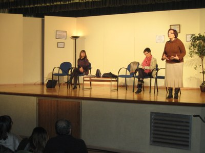 Les tres protagonistes en un moment de l'obra