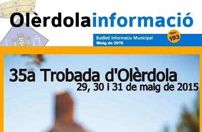 S'edita un butlletí municipal especial amb informacions de la Trobada