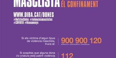 """Suport de l'Ajuntament d'Olèrdola a la campanya """"Contra la violència masclista, que no ens aturi el confinament"""""""