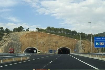 Tall de circulació a la carretera C15 en sentit Vilanova la nit de dilluns a dimarts