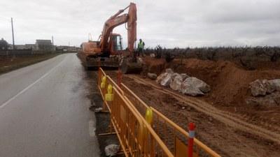 Tall de circulació de Sant Pere Molanta a barri Ferran per les obres de construcció del passeig de vianants