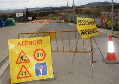 Tallat per obres el vial que connecta el carrer del Camp de Moja amb la carretera de Vilafranca