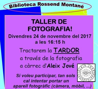 Taller de fotografia al Servei de Biblioteca Oberta d'Olèrdola