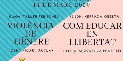 Taller per a joves i xerrada a Sant Pere Molanta aquest dissabte per a prevenir la violència de gènere