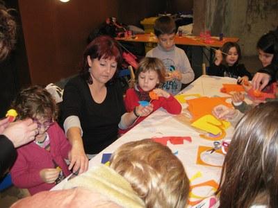 Ian Garcia( a la imatge, el nen amb el jersei vermell)  va participar en els tallers