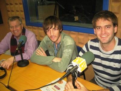 D'esquerra a dreta: Jaume Farré, Jordi Massana i Lucas Ramírez