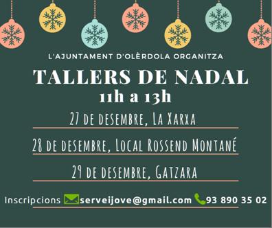 Tot a punt pels tallers gratuïts de Nadal que organitza l'Ajuntament d'Olèrdola