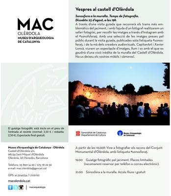 Un espectacle audiovisual a la muralla tancarà dissabte els Vespres al Castell d'Olèrdola