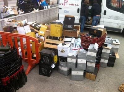 Un miler d'ampolles s'han recollit a Sant Miquel aquest dissabte durant la Campanya de l'Ampolla