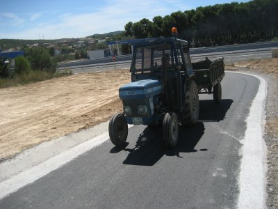 Els tractors ja utilitzen el vial des del 31 d'agost