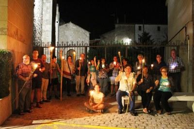 Veïns de Moja commemoren pel poble el segon aniversari de l'1 d'Octubre