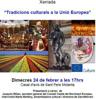 Xerrada a Sant Pere Molanta aquest dimecres sobre les tradicions culturals a la Unió Europea