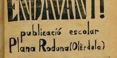 La revista escolar de l'escola de Plana Rodona del mestre Ramon Costa Jou