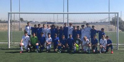 Aquest diumenge es va jugar un partit internacional de futbol infantil a Olèrdola