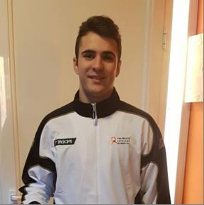 Daniel Romero, del Judo Olèrdola, amb la selecció catalana júnior de judo