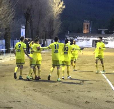 Celebració del tercer gol foto : @AEMoja