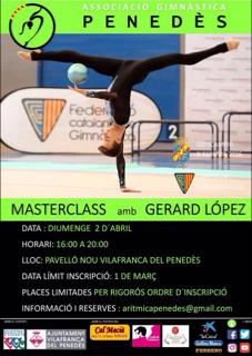 El gimnasta català Gerard Lopez farà una Masterclass a Vilafranca