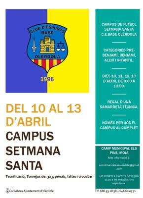 Olèrdola tornarà a acollir un campus de futbol per Setmana Santa