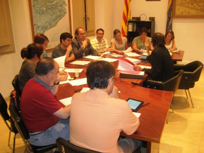 Reconeixement del ple de l'Ajuntament d'Olèrdola a Artur Santacana per la seva dedicació