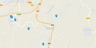 Llocs d'interès al mapa