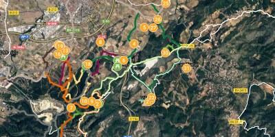 Mapa de rutes d'Olèrdola